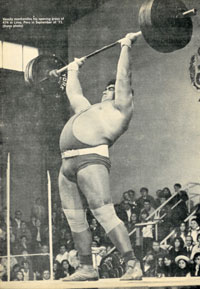 These impressive compensations allow him to perform an incline press in standing