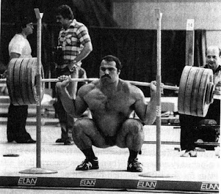 Anatoly Pisarenko displaying the definition of the deep squat