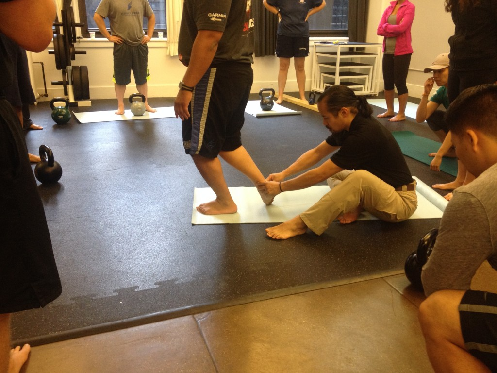 Use tactile cues to increase proprioception and ensure speed and excursion of movement