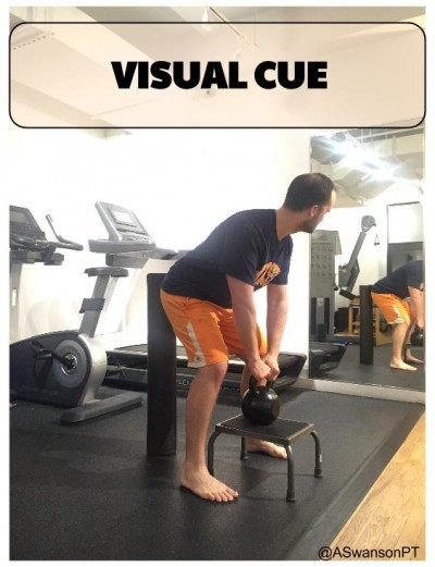 External Visual Cue using the mirror and foam roller for an external target