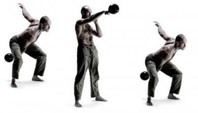 "External Cue - ""throw the kettlebell through the wall in front of you"""